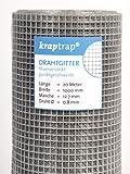KrapTrap Volierendraht, Drahtgitter, 12.7 mm Masche, 100 cm Breite, 20 m Länge Grundpreis 1,99...