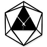 WANDKINGS Wanduhr Triangle aus Acrylglas, in 11 Farben erhältlich (Farbe: Uhr = Schwarz matt;...