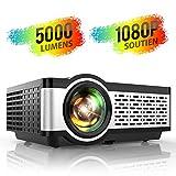 TOPTRO Mini-Beamer, tragbar, untersttzt Full HD, 1080p, 4600 Lumen, Rckspiegel fr Heimkino oder im...