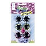 Glitzer-Glotzies Glubschaugen: 6 Glitzeraugen in 3 Farben für selbstgemachte Kuscheltiere