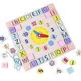 Lernuhr Kinder Holz Montessori Spielzeug Uhr-Spielzeug, Holzpuzzle Steckpuzzle Für Kinder Im...