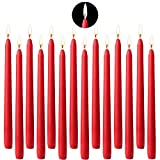 BEYAOBN 14 Spitzkerzen Red 25.4cm Tischkerzen Tafelkerzen Leuchterkerzen Stabkerzen Kerzen