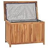 Festnight Auflagenbox Holz Garten Gartenbox Klein Kissenbox Kissentruhe Aufbewahrungsbox Gartentruhe...