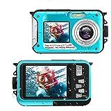 Unterwasserkamera Full HD 2.7K 48 MP Unterwasser kameras Selfie Dual Screens 16X Digital Zoom...