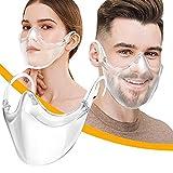 KJC 1/2/3/5/10 Stücke Gesichtsschutz_Plexiglas - Waschbare Wiederverwendbare Face_Visier für U...