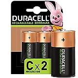 Duracell Rechargeable C 3000 mAh Baby Akku Batterien HR14, 2er Pack