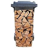 SHIRT-TO-GO Aufkleber für Mülltonne Mülltonnenaufkleber - Kaminholz Brennholz