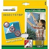 Schellenberg 50720 reflektierendes Fliegengitter Reflection reflektierender-Insektenschutz 130 x 150...