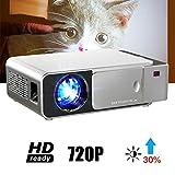 EJOYDUTY Mini-Projektor Native 720P, 1200Lux HD Heimkinoprojektor, 176-Zoll-Projektorgröße, 30000...