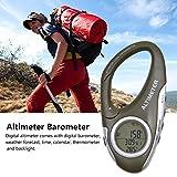 Höhenmesser Barometer mit Thermometer - Wetterwächter zum Klettern Camping Outdoor - -700~9000...