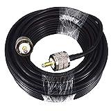 BOOBRIE UHF-Kabel RG58/U UHF männlich auf UHF männlich 50 Ohm Adapter PL259 Antennenkabel Radio...