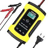 URAQT Batterie Ladegerät Auto, 6A/12V Vollautomatisches Intelligentes Erhaltungsladegerät mit...