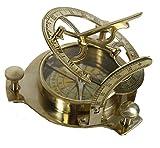 Sabri Home Gifts Kompass für Sonnenuhr, 10,2 cm, massives Messing