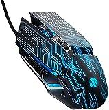AYCPG Verdrahtete Makro-Programmierung Metall-mechanische Maus-LED-Atem-Licht-Gaming-Maus hfhdqp...