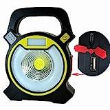 Dicstorets Multifunktionale tragbare USB-Taschenlampe mit hoher Leistung, COB-Arbeitsleuchte, für...