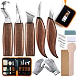 Holz-Schnitzwerkzeug Set, SIMILKY 5 teiliges Holz-SchnitHolzschnitzwerkzeugset, SIMILKY Hakenmesser...