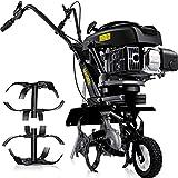 MASKO® Benzin Gartenfräse MK-909 Motorhacke 3kW(4,1PS) 139ccm Ackerfräse mit 36cm Arbeitsbreite -...