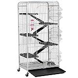 Yahee Nagervoliere Käfig für Erwachsene Ratten Kaninchen Frettchen Chinchillas 64 x 43,7 x 131,2...
