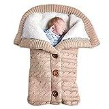 Baby Schlafsack für Kinderwagen Gestrickt Schlafsack Süße Samt Warme Tasche Pucksack Stricken...