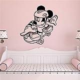 BailongXiao Kinderzimmer Cartoon Maus Vinyltapete Kinderzimmer Deko Tapete Kinderzimmer Deko...