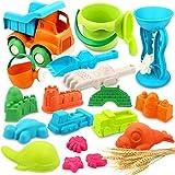 Vanplay Sandspielzeug Weizenstrohmaterial Sandkasten Spielzeug mit Strandspielzeug Tasche für...