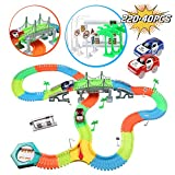 infinitoo Autorennbahn, Magic Trucks Auto Spielset, Inclusive 220 Stck Tracks & 2 E-Autos & 40...