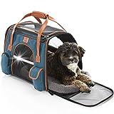 Tierhood Hundebox aus Stoff - Luxusdesign - Hundetasche für kleine Hunde bis 10kg - für Auto und...