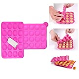 Itian Silikon Cake Pop Backform,20 Runde Formen Silikon Lollipop Form Tablett Cake Silikonform für...