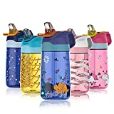 450ml Kinder Trinkflasche Wasserflasche FJbottle BPA-Frei auslaufsichere Kinderflasche aus Tritan...