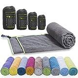 LightDry Original Mikrofaser Backpack Sporthandtuch für Damen und Herren Reisehandtuch extrem...
