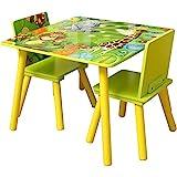 Zacheril Kindertisch Stuhl Set Kindermöbel Tisch und Stuhl Set for das Lesen von Spielzimmer...