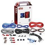 BOSS AUDIO KIT2 8 Gauge/ 3,27 mm Auto Installations-Set Verstrker Endstufe Kabel Anschlusskabel...