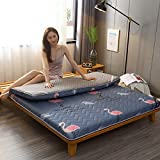 LXSHMF Japanisch Boden Futon Matratze,Dick Tatami Bodenmatratze Futonbett Faltbar Schlafsaal...