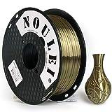 Noulei PLA Shiny Filament, 3D Drucker Filament 1.75mm, Silk Antique Gold, 1 kg Spool