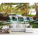 QAQB Tapete Hainan Island Kokosnuss Wald Wasserfall Wasserfall HD Landschaft TV Sofa Hintergrund...