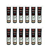 Bauacryl 12 x 300 ml | Acryl weiss | Fugendichtmasse zum Abdichten von Rissen | Dichtstoff -...