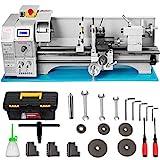 Mophorn Mini Drehbank 220x600mm Drehmaschine Metall 1.1KW Mini Drechselbank für Metallbearbeitung...