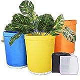 bowlder Pflanzsack 5 PCS Pflanzensamenfilterbeutel Wasserdichtes, Haltbares Sieb Blasen Gartensack,...