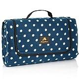 CampFeuer Picknickdecke wasserdicht 200x200 cm   blau   Muster: Punkte   XXL Campingdecke  ...