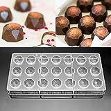 Jeteven® 3D Schokoladenform Pralinenform Backform Backzubehör aus Polycarbonat (PC) Transparent,...