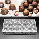 Jeteven 3D Schokoladenform Pralinenform Backform Backzubehr aus Polycarbonat (PC) Transparent, fr...