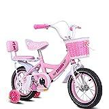 S2F5 Kinderfahrräder, 3-8 jährige Mädchen Radfahren, Kinder Tricycle (Color : Purple 12 Inch)