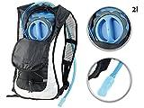 Xcase Trinkrucksack: Ultraleichter Fahrrad-Rucksack mit 2-Liter-Trinksystem und Reflektoren...