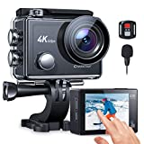 Action Cam 4K/60FPS, Crosstour CT9900 Touchscreen Unterwasserkamera Helmkamera (WiFi Externes...