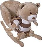Bieco Plüsch Schaukeltier Bär, braun, Kinder Rocking Horse Schaukelpferd ab 1 Jahr,...