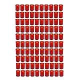 HAC24 100 Stück Grablicht Rot Grabkerze Kleine Friedhofskerzen Grabbrenner Nr.24 Gedenkkerze...