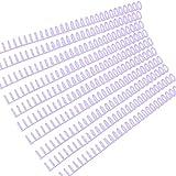 Kstyhome 10 Stück Kunststoff 30-Loch Loseblattbinder Ringbindung Stacheln Kämme 85 Blatt...
