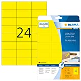 HERMA 4466 Farbige Etiketten DIN A4 ablsbar (70 x 37 mm, 20 Blatt, Papier, matt) selbstklebend,...