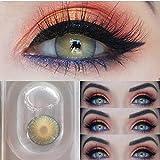 Hochdeckende Kontaktlinsenfarbe, Kontaktlinse Behälter 2 Paar (4 Stück) I DIA 14,20 I Keine Dicke...