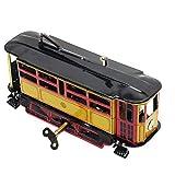 Fliyeong Retro Wind Up Tram Kabel Bus Uhrwerk Straßenbahn Spielzeug Vintage Collection Kid...
